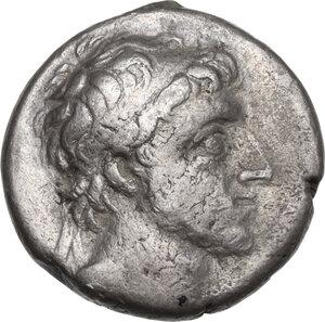 obverse: Kings of Cappadocia.  Ariarathes X Eusebes Philadelphos (42-36 BC).. AR Drachm, Mazaka ad Eusebeia mint, 38-37 BC