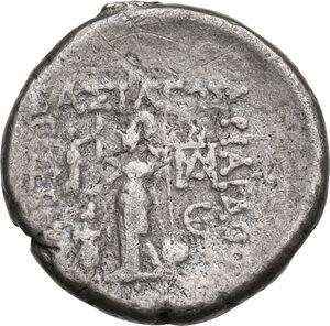 reverse: Kings of Cappadocia.  Ariarathes X Eusebes Philadelphos (42-36 BC).. AR Drachm, Mazaka ad Eusebeia mint, 38-37 BC