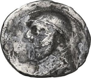 obverse: Kings of Parthia.  Mithradates II (121-91 BC). AR Drachm