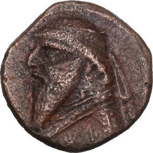obverse: Kings of Parthia.  Mithradates II (121-91 BC). AE Dikalchon, Rhagae  mint