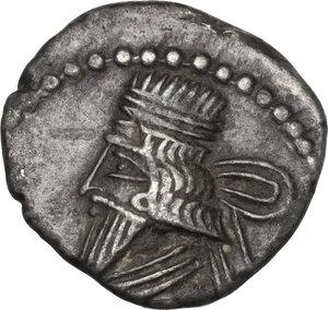obverse: Kings of Parthia.  Vologases III (105-147 AD).. AR Drachm