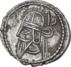 obverse: Kings of Parthia.  Vologases VI (208-228 AD).. AR Drachm, Ekbatana mint
