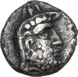 obverse: Persis.  Darius I (2nd cent BC) . AR Hemidrachm