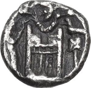 reverse: Persis.  Darius I (2nd cent BC) . AR Hemidrachm