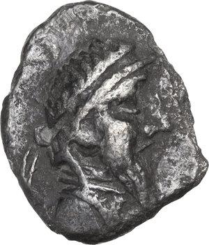obverse: Persis.  Autophradates IV (1st cent. BC). AR Hemidrachm
