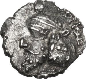 obverse: Persis.  Pakor II (c. 1st cent. AD). AR Obol