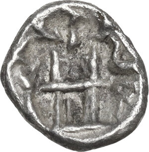 reverse: Persis.  Uncertain king (2nd cent. AD).. AR Obol