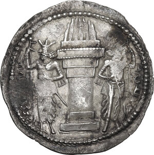 reverse: Sasanian Empire.  Shapur I (241-272).. AR Drachm