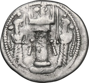 reverse: Sasanian Empire.  Varhran IV (388-399).. AR Drachm