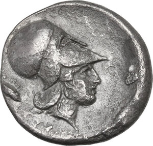 reverse: Corinthia, Corinth. AR Stater, c. 400-375 BC