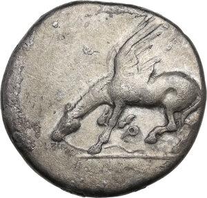 obverse: Corinthia, Corinth. AR Stater, c. 400-380 BC