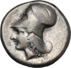 reverse: Corinthia, Corinth. AR Stater, c. 400-380 BC