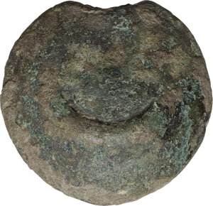 obverse: Northern Apulia, Luceria. AE Cast Semuncia, heavy series, 225-217 BC