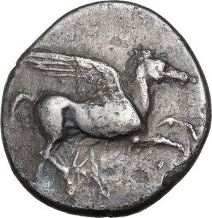 obverse: Corinthia, Corinth. AR Stater, c. 405-345 BC