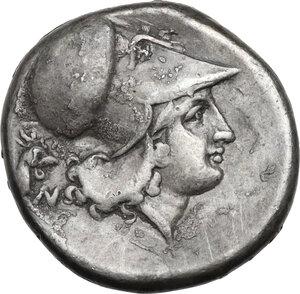 reverse: Corinthia, Corinth. AR Stater, c. 345-307 BC