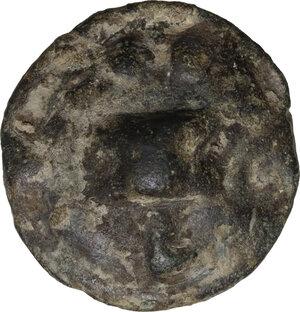 reverse: Northern Apulia, Luceria. AE Cast Biunx, c. 217-212 BC