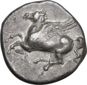 obverse: Corinthia, Corinth. AR Stater, c. 345-307 BC