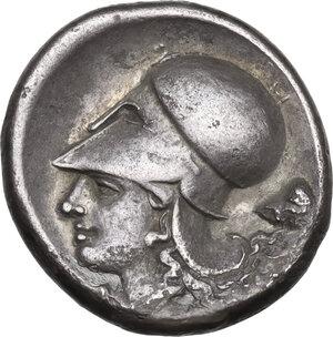reverse: Corinthia, Corinth. AR Stater, 345-307 BC