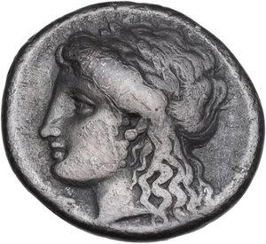 reverse: Corinthia, Corinth. AR Drachm, c. 350-300 BC