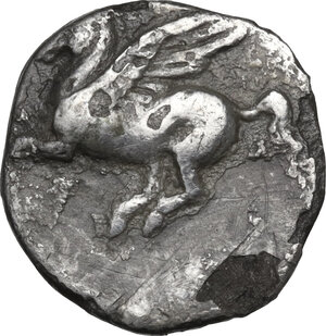obverse: Corinthia, Corinth. AR Drachm, c. 350-300 BC