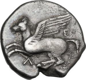 obverse: Akarnania, Leukas. AR Stater, c. 375-350 BC