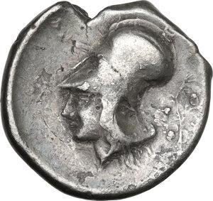reverse: Akarnania, Leukas. AR Stater, c. 375-350 BC