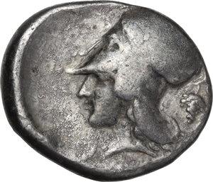 reverse: Akarnania, Leukas. AR Stater, c. 390-380 BC