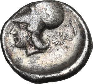 reverse: Akarnania, Leukas. AR Stater, c. 400-330 BC