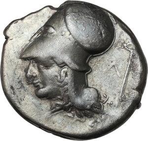 reverse: Acarnania, Leukas. AR Stater, c. 350-320 BC