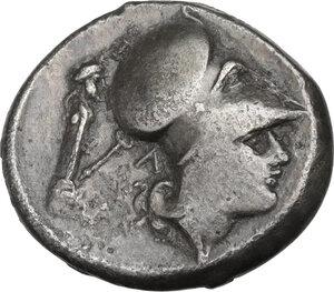 reverse: Akarnania, Leukas. AR Stater, c. 320-280 BC