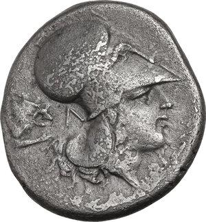 reverse: Akarnania, Leukas. AR Stater, c. 400-375 BC