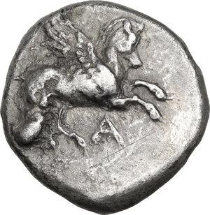 obverse: Epeiros, Ambrakia. AR Stater, c. 360-338 BC