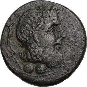 obverse: Southern Apulia, Brundisium. AE Sextans, c. 215 BC
