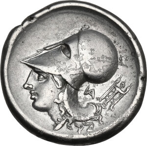 reverse: Akarnania, Anactorium. AR Stater, c. 345-300 BC