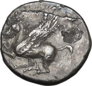 obverse: Uncertain mint. AR Stater, c. 4th century BC