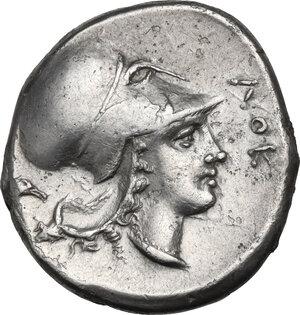 reverse: Bruttium, Locri Epizephyrii. AR Stater, c. 350-300 BC