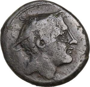 obverse: Anonymous semilibral series.. AE Semuncia, 217-215 BC