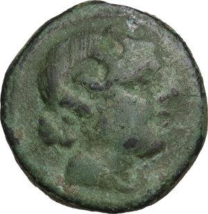 obverse: Anomalous Semilibral series.. AE Semuncia, c. 217-215 BC