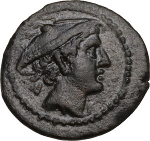 obverse: Anonymous post-semilibral series.. AE Semuncia, 215-212 BC