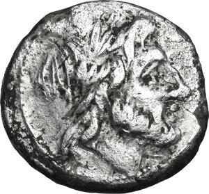 obverse: Anonymous. AR Victoriatus, 211 BC