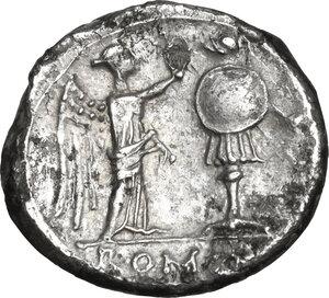 reverse: Anonymous. AR Victoriatus, 211 BC