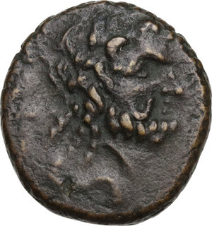 obverse: Southern Apulia, Brundisium. AE Semis, semuncial standard, 2nd century BC