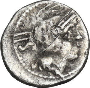 obverse: Anonymous.. AR Sestertius, 211 BC