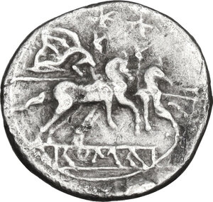 reverse: Anonymous.. AR Sestertius, 211 BC