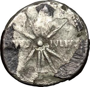 reverse: Augustus (27 BC - 14 AD).. AR (Fourrée) Denarius, Spanish mint, 19-18 BC