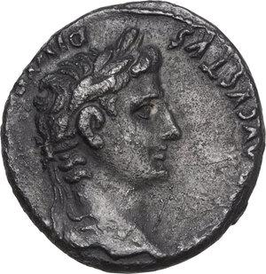 obverse: Augustus (27 BC - 14 AD).. AR Denarius, Lugdunum mint, 2 BC-4 AD