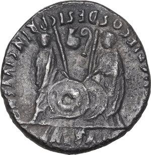 reverse: Augustus (27 BC - 14 AD).. AR Denarius, Lugdunum mint, 2 BC-4 AD