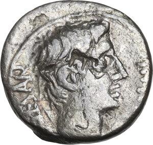 obverse: Augustus (27 BC - 14 AD)  . AR Quinarius, uncertain mint, 29-26 BC