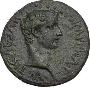 obverse: Augustus (27 BC - 14 AD).. AE As, 10-12 AD