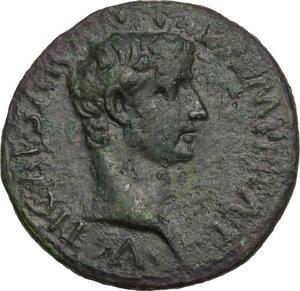 obverse: Augustus (27 BC - 14 AD).. AE As, 10-12 AD